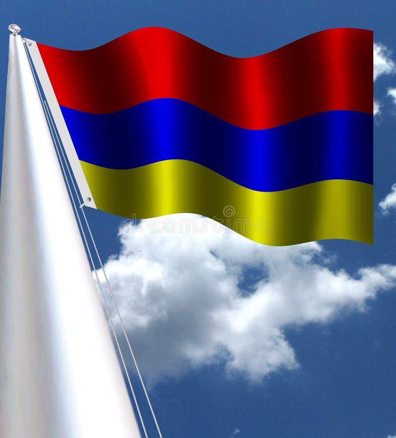 Den Tricolour nationsflaggan av Armenien vektor illustrationer