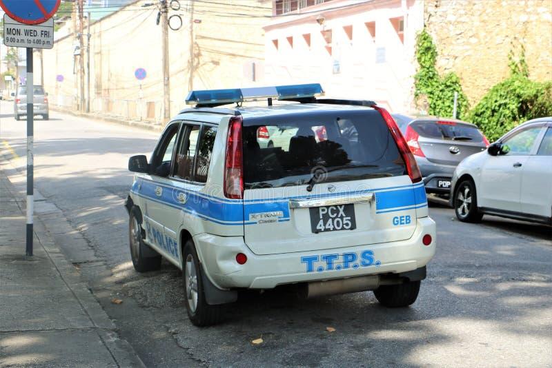 Den Trinidad och Tobago polisen royaltyfria foton