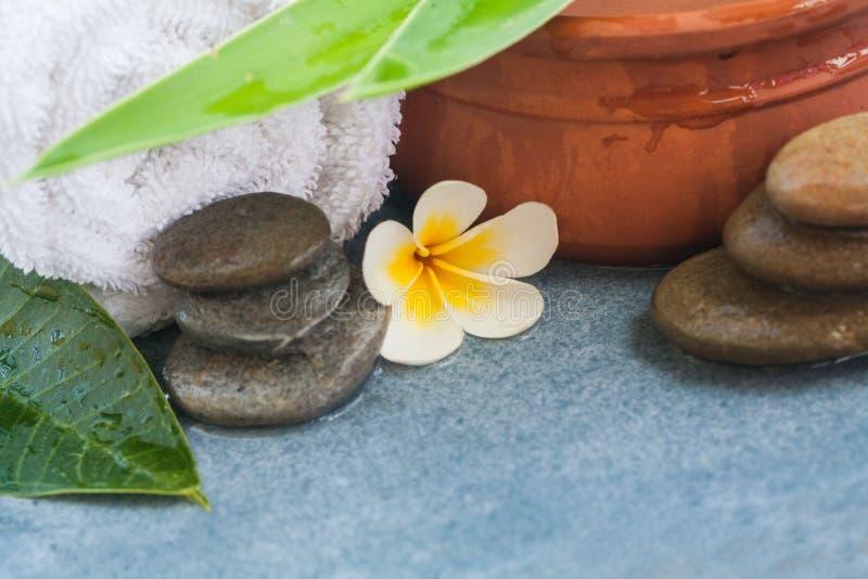 Den tropiska brunnsorten anmärker för massage med solljus fotografering för bildbyråer