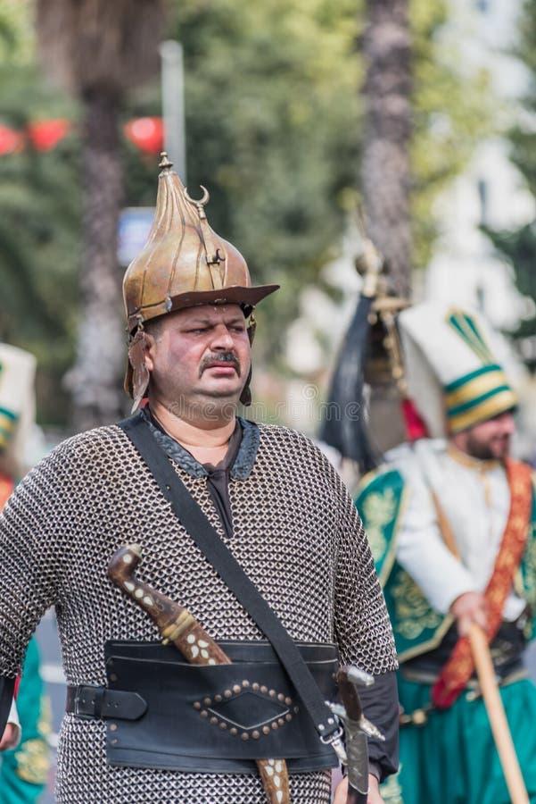 Den turkiska marschen för den militära musikbandet för ottomanen för militär ståtar arkivfoton