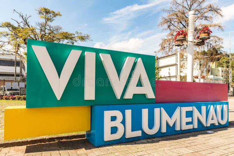 Den tyska byn parkerar, Blumenau, Santa Catarina royaltyfri bild