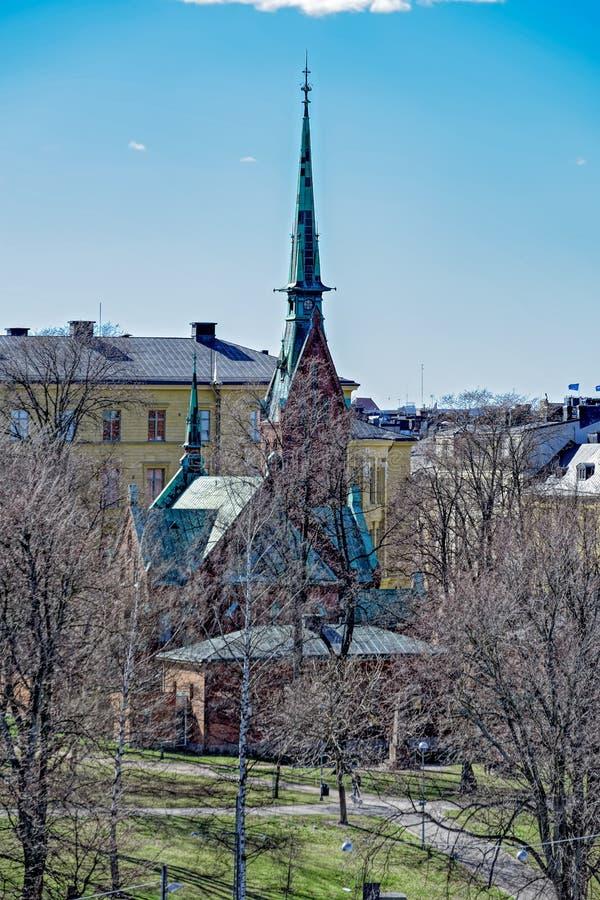 Den tyska kyrkan av Helsingfors royaltyfri foto
