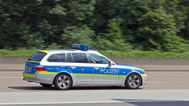 Den tyska polisen royaltyfria bilder