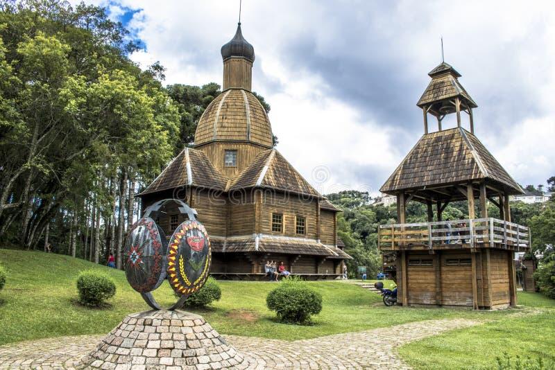 Den ukrainska katolska kyrkan parkerar in arkivbilder