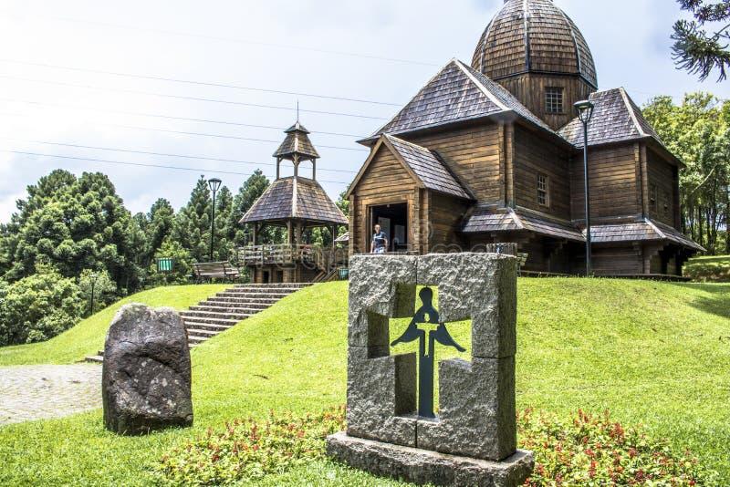 Den ukrainska katolska kyrkan parkerar in royaltyfri foto