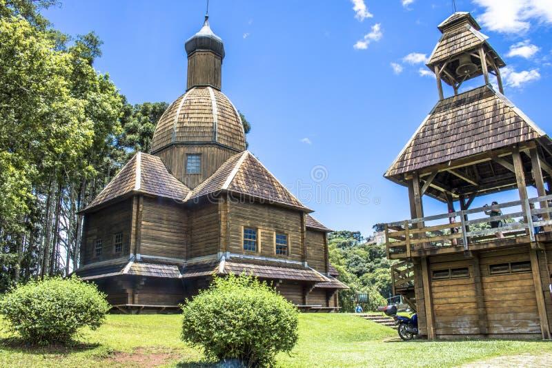 Den ukrainska katolska kyrkan parkerar in arkivfoto