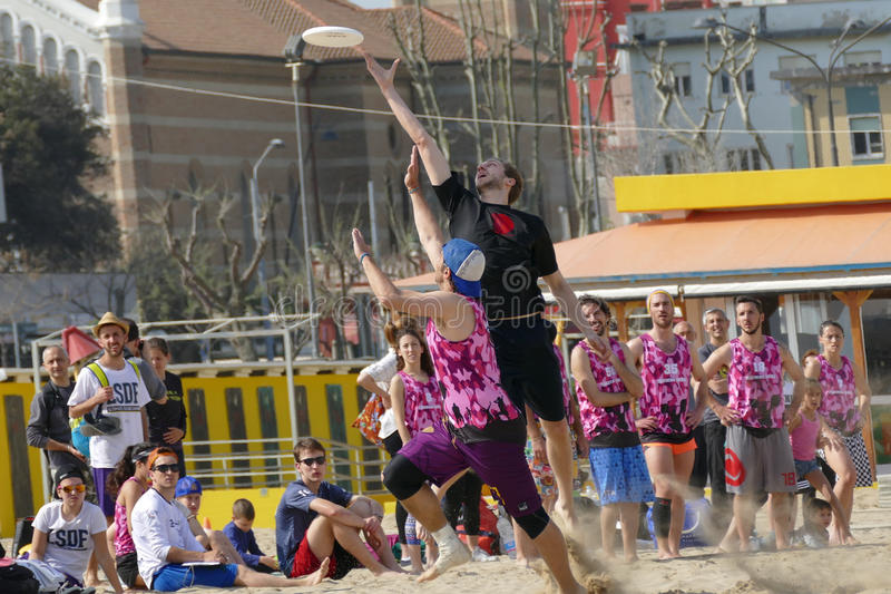 Den ultimata Paganello —stranden 2017 öppnar arkivfoton
