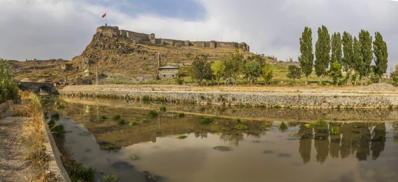 Den underbara gamla staden av Kars, Turkiet arkivbilder