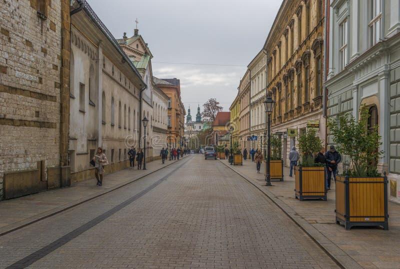 Den underbara gamla staden av Krakow, Polen royaltyfri fotografi