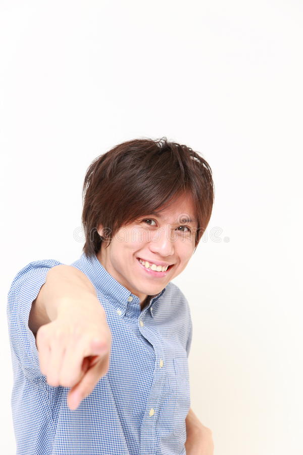 Den unga japanska mannen valde royaltyfria foton