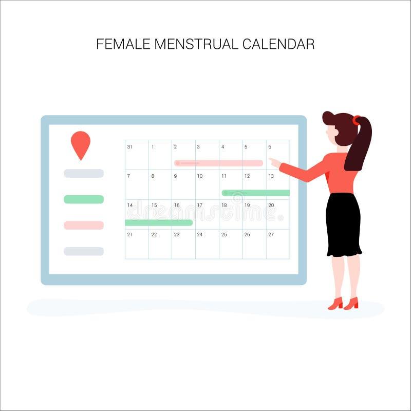 Den unga kvinnan väljer datum- och för doesn t planhavandeskap stock illustrationer
