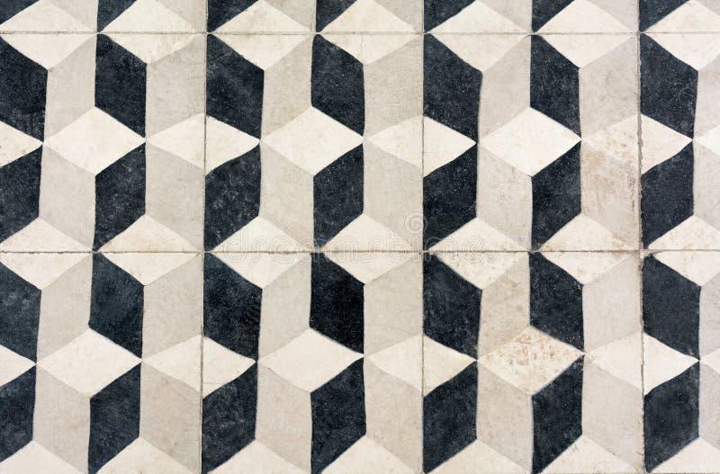 Den unika tegelplattadesignen, islammodeller, Escher som upprepning belade med tegel golvet royaltyfri bild