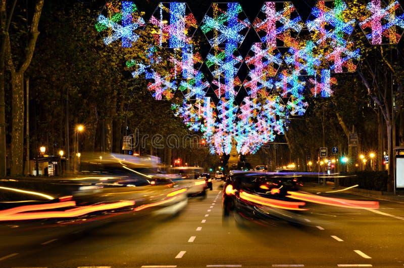 den upptagna julen time stads- arkivfoton