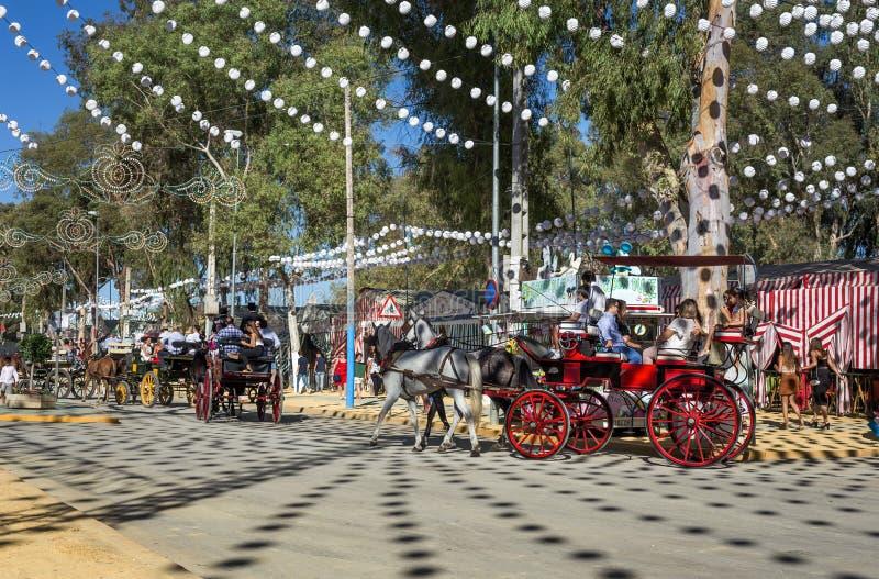 Den Utrera mässan är en traditionell festival av staden av Utrera royaltyfri bild