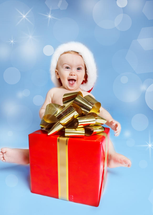 Den uttrycksfulla julen behandla som ett barn royaltyfria foton