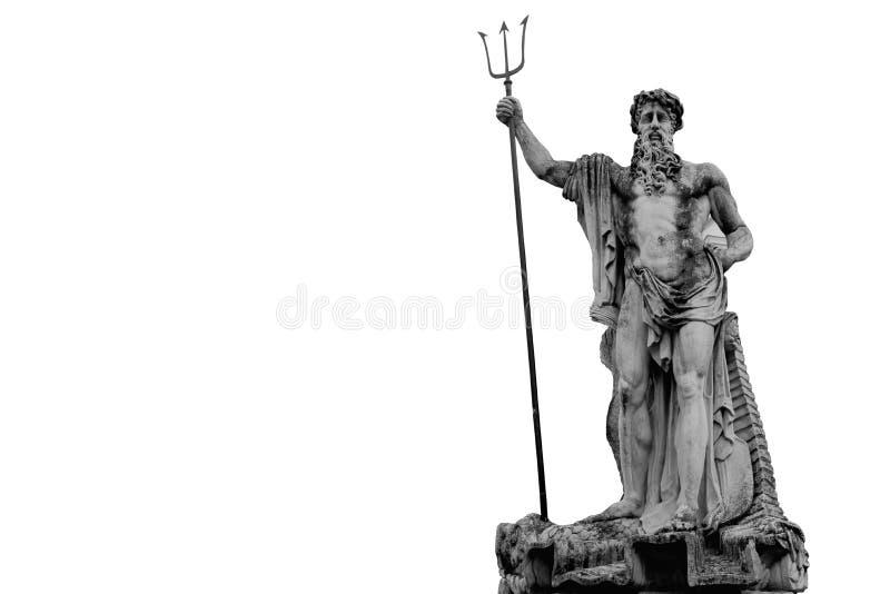 Den väldiga guden av havet och havNeptun Poseidon ancien royaltyfri bild
