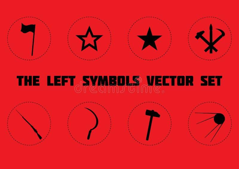 Den vänstra symboluppsättningen royaltyfria bilder