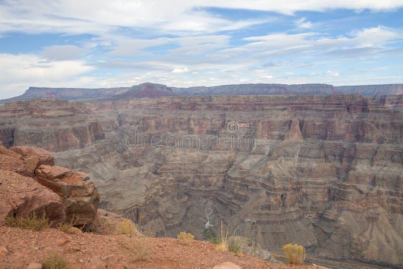 Den västra kanten av Grand Canyon i Arizona arkivbild