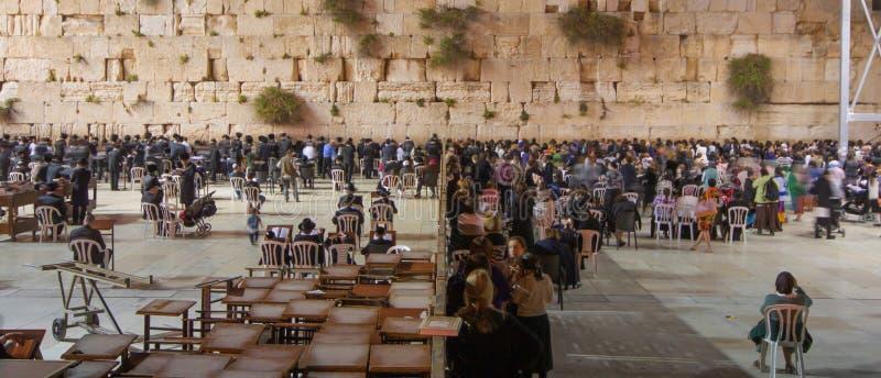 Den västra väggen av Jerusalem royaltyfri foto