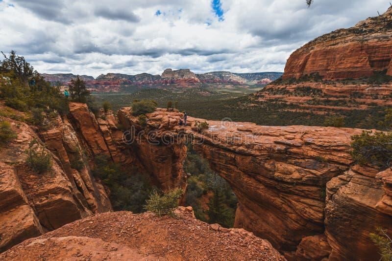 Den vackra naturen i Sedona, staden Arizona Turism i Förenta staterna arkivbild