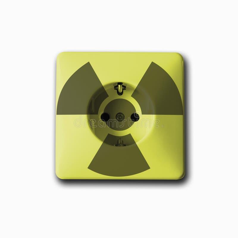Den van vid håligheten frambringar elektricitet från kärnkraft stock illustrationer