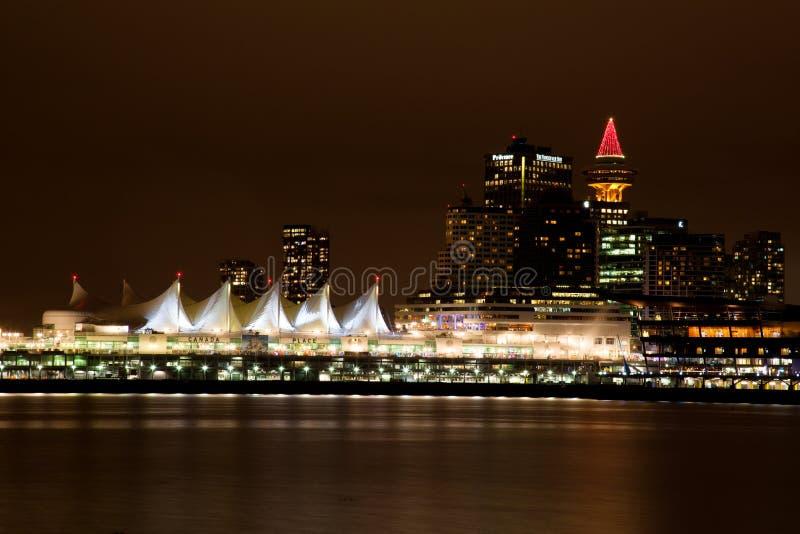 Den Vancouver staden från Stanley parkerar royaltyfri foto