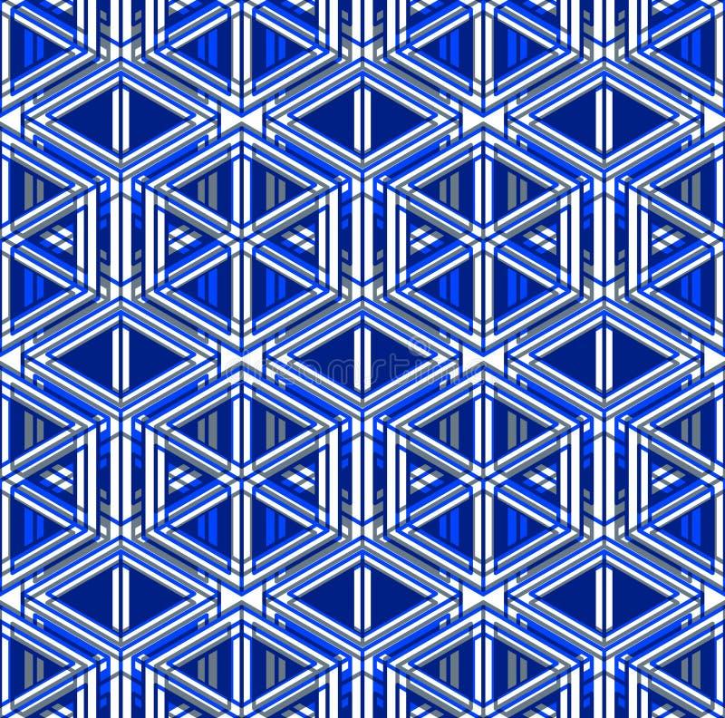 Den vanliga färgrika ändlösa modellen med flätar samman tre-mått stock illustrationer
