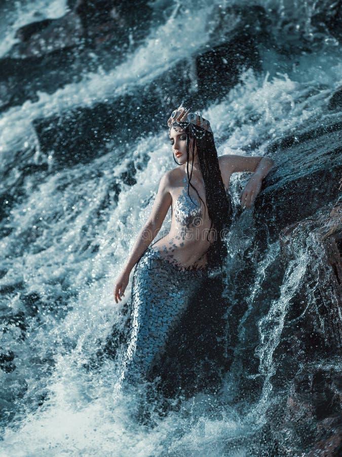 Den verkliga sjöjungfrun arkivbild
