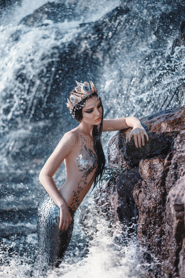 Den verkliga sjöjungfrun royaltyfria bilder