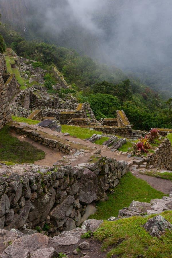 Den vertikala sikten av forntida fördärvar uppifrån royaltyfri foto