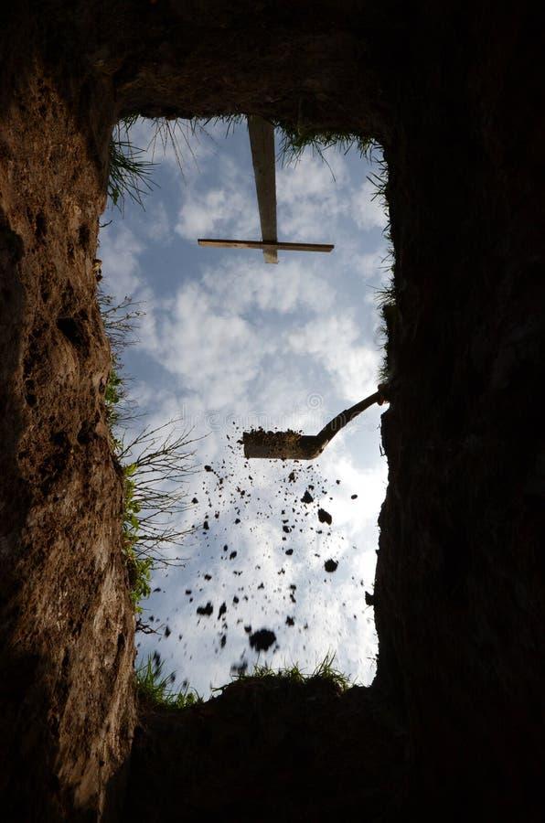 Den very latsikten från graven arkivbilder