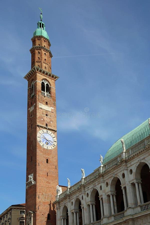 Den Vicenza Italy Main monumentet av staden kallade Basilika Palladina arkivbild