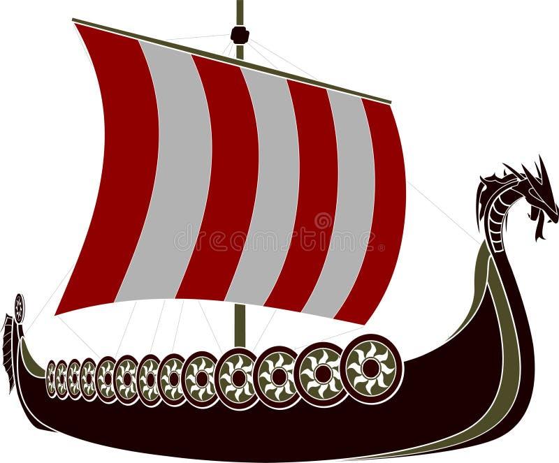 Viking ship stock illustrationer