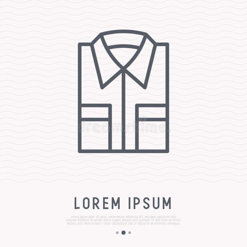Den vikta skjortan fodrar thin symbolen vektor illustrationer
