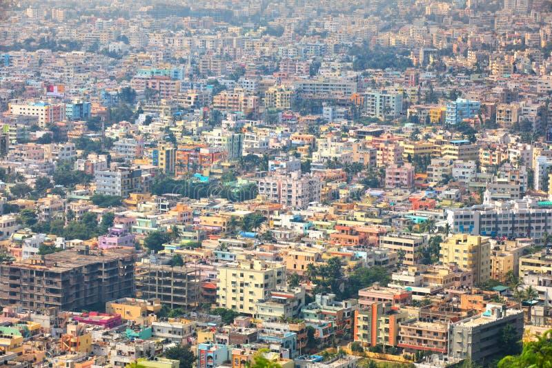 Den Visakhapatnam staden är den finansiella huvudstaden av det Andhra Pradesh tillståndet i Indien arkivfoto