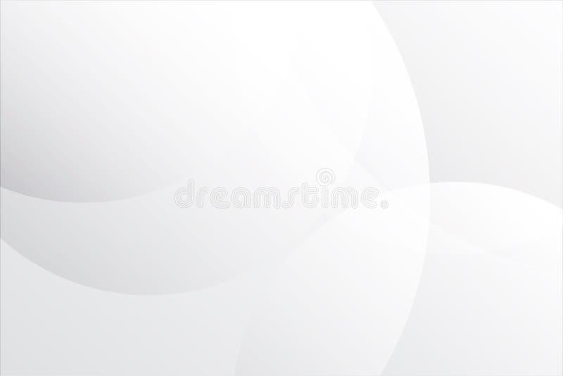 Den vita abstrakta bakgrundsvektorn, cirklar abstrakt bakgrund för presentation royaltyfri illustrationer