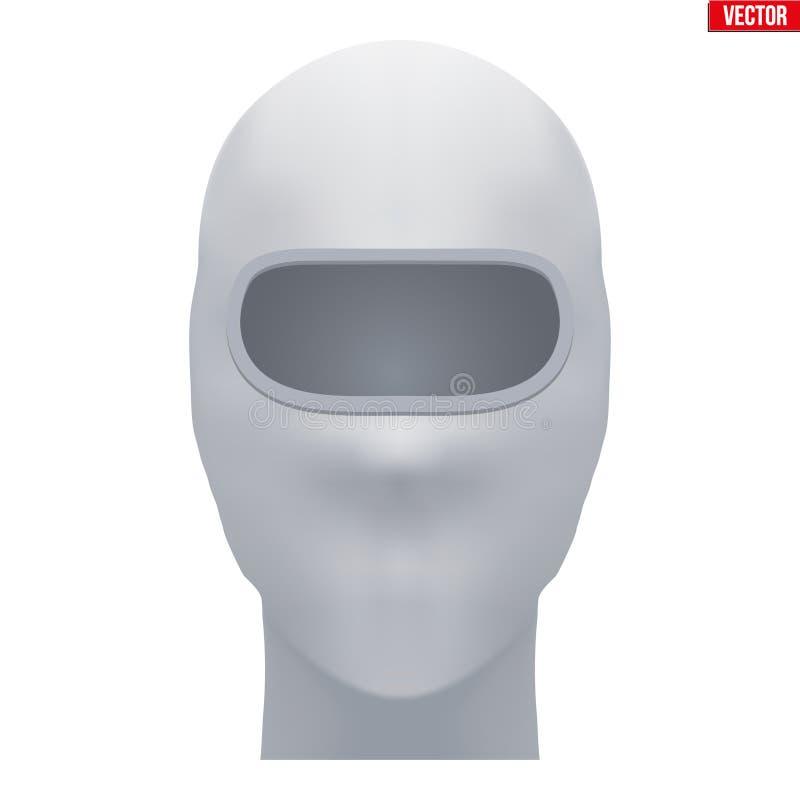 Den vita balaclavaen SKIDAR maskeringen stock illustrationer
