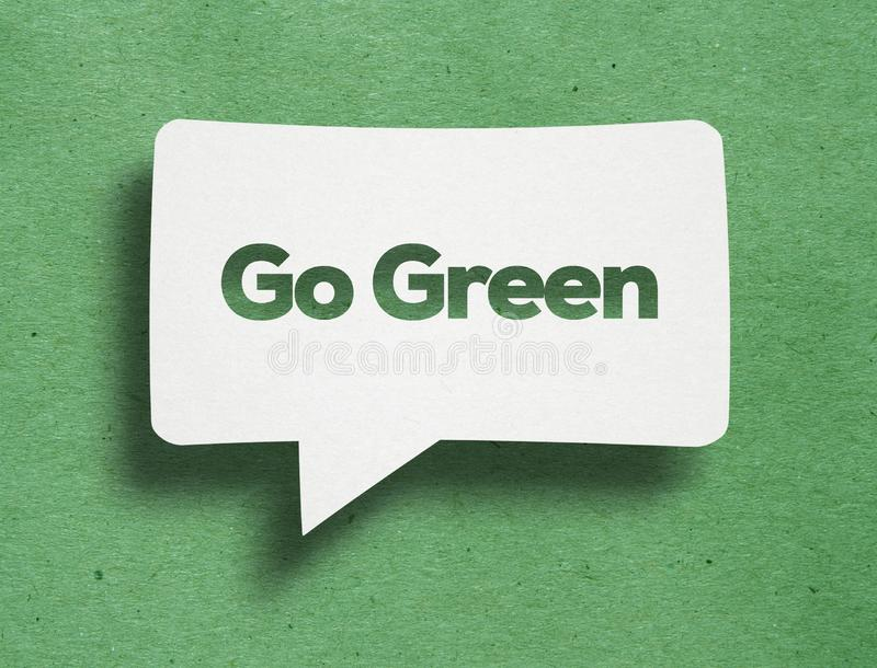 Den vita bubblan med går grön tex royaltyfri fotografi