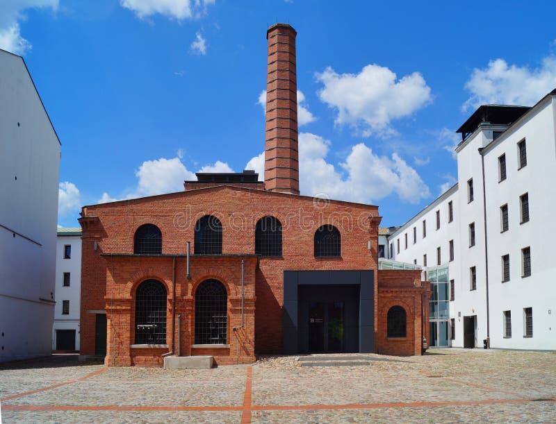Den vita fabriken, just nu platsen av det centrala museet av textiler, Lodz royaltyfria bilder
