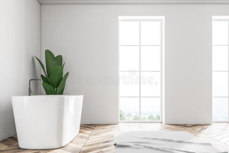 Den vita vindbadruminre, badar växtsidosikt stock illustrationer