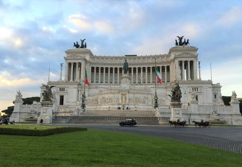 Den Vittorio Emanuele II monumentpiazza Venezia arkivbilder
