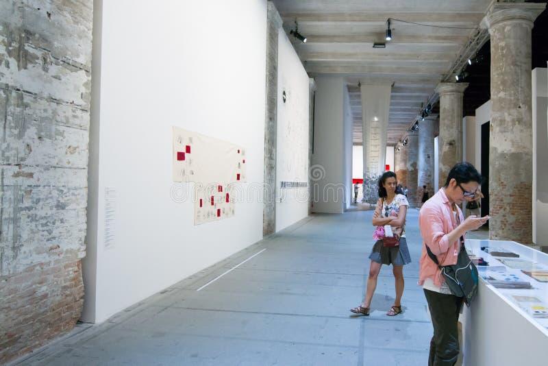Den Viva Arte Viva för Biennale diVenezia ` `en Italien royaltyfri bild