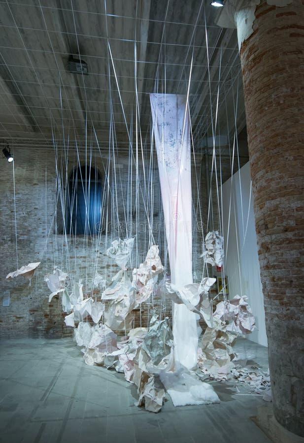Den Viva Arte Viva för Biennale diVenezia ` `en Italien royaltyfri fotografi