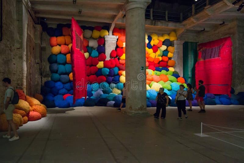 Den Viva Arte Viva för Biennale diVenezia ` `en Italien royaltyfria foton