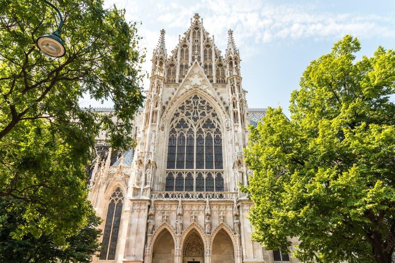 Den Votive kyrkan i Wien fotografering för bildbyråer