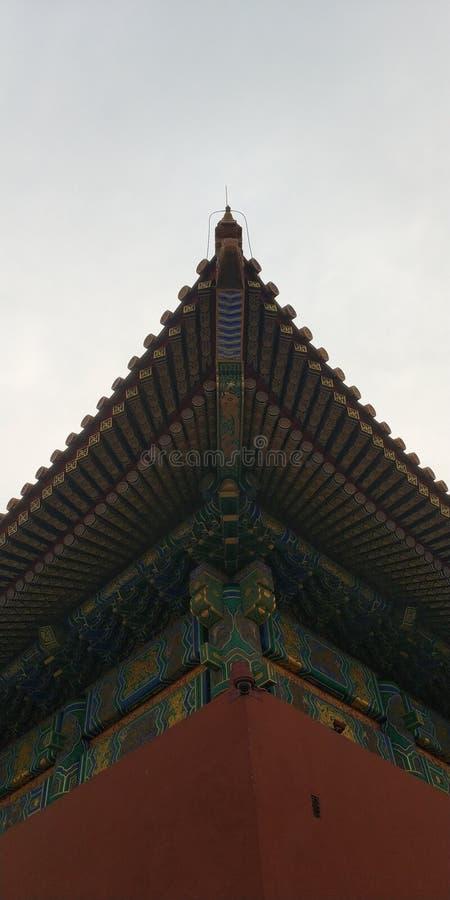 Den WallThe Forbidden City väggen är mycket passande som en tapet, är denna den original- bilden som korrigerar honom och som där royaltyfri bild
