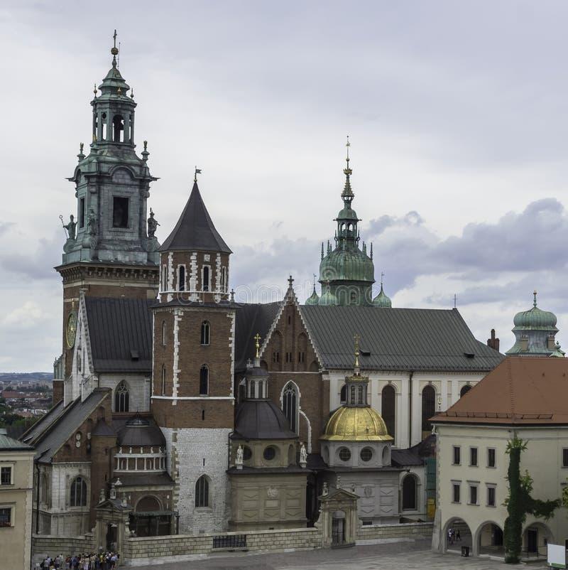 Wawel domkyrka arkivbilder
