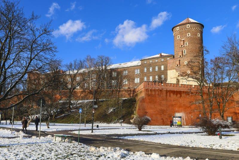 Den Wawel slotten Krakow, Polen royaltyfria bilder