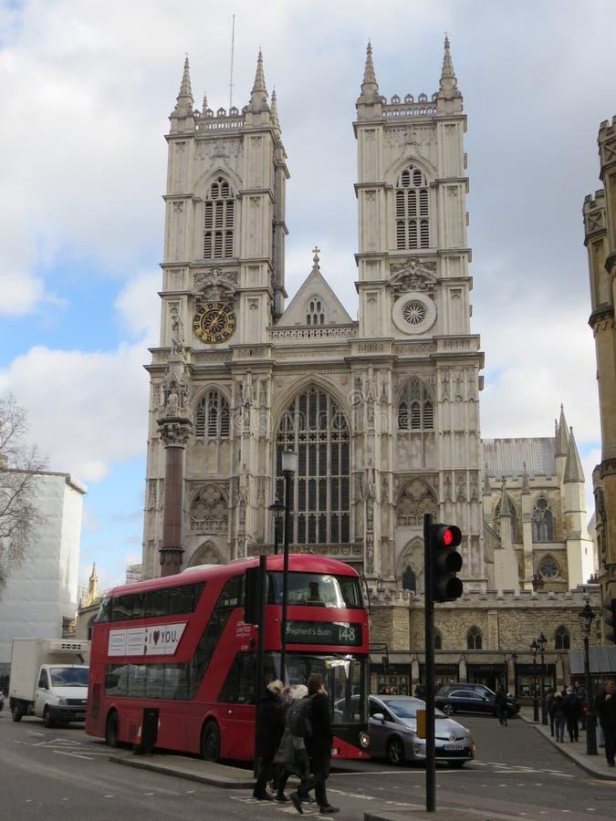 Den Westminster abbotskloster eller den college- kyrkan av St Peter på Westminster är en gotisk abbotsklosterkyrka i London arkivfoto