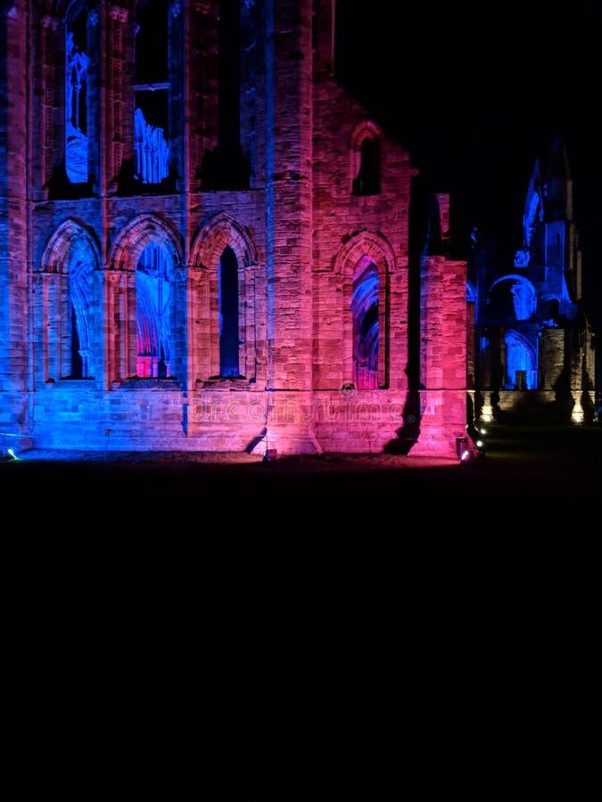 Den Whitby abbotskloster North Yorkshire exponerade royaltyfri foto